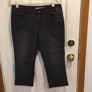 DKNY Jeans Faded Cropped Jeans